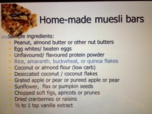 gluten free bar ingredients