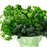 Heaps of leafy greens