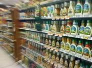 The salad dressing aisle is a disaster zone