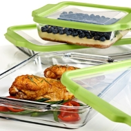 Glass cookware and storage containers
