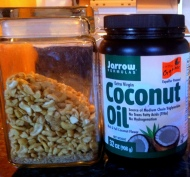 Cashew nuts, coconut oil