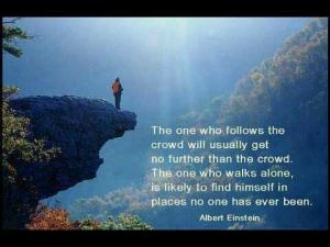 the fone who follows the crowd einstein
