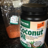 Lentils and coconut oil