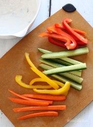 Crudites vegetables