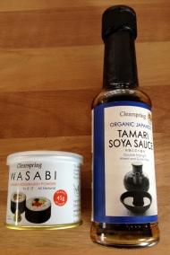 Wasabi and GF Tamari soy sauce