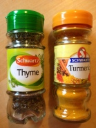 thyme and turmeric