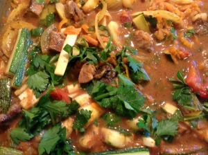 Lambs liver and lambs heart casserole with a spicy twist.2