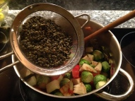 Adding lentils