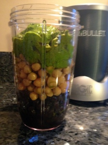 beans, herb blitz, lemon juice, ground cumin and EVO