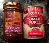Massaman Curry pasts and tomato puree
