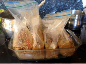 Extra portions ready for freezing