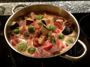 Simmering curry