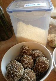 Rolled in desiccated coconut