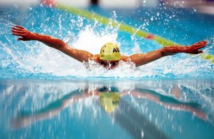 Daniel Bell (AUS) action reflections Swimming 2000 Sydney PG