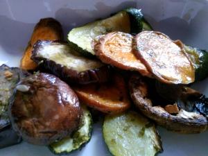 Quick veg - mushroom, spinach, onions and cream 4