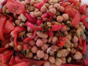 Roasted Red Pepper and Chickpea Salad 3