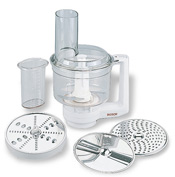 Food processor with grating attachments