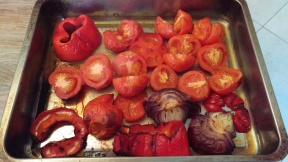 tomatoes and red pepper